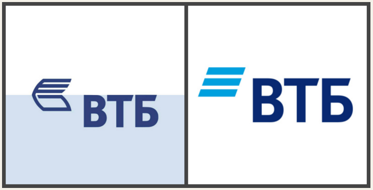 Новый логотип банка ВТБ